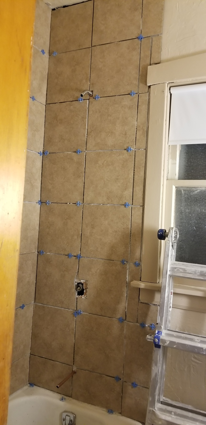 tile with faucets